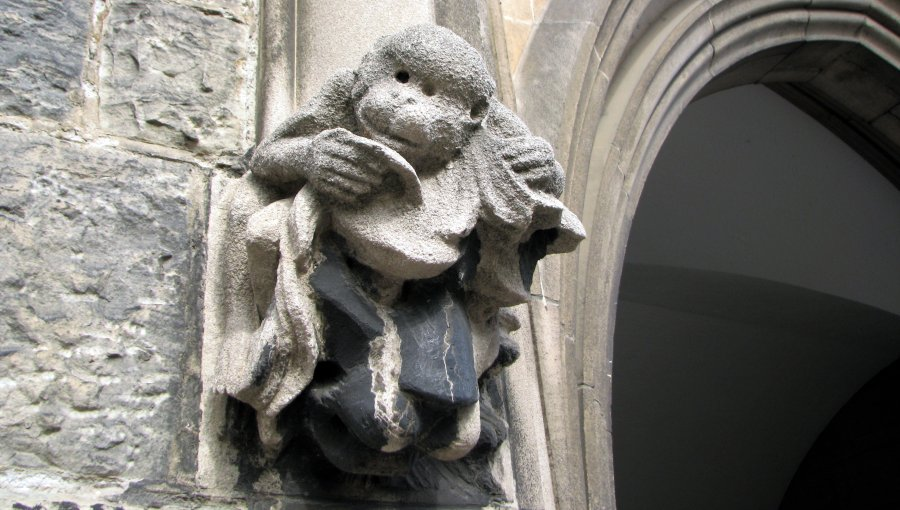 monkey gargoyle, photographed at University of Toronto