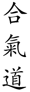 the graphical japanese lettering representing Aikido