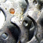 3 overlapping gears smeared with grease