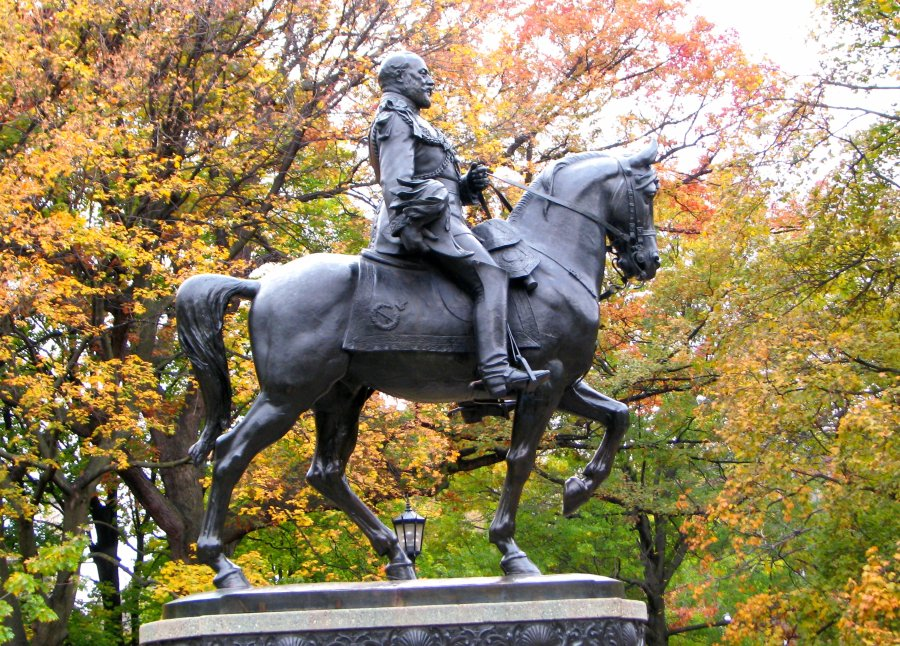 larger than life King Edward VII equestrian statue