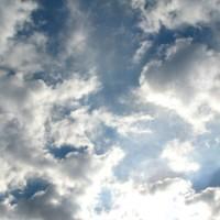 a dramatically cloudy sky