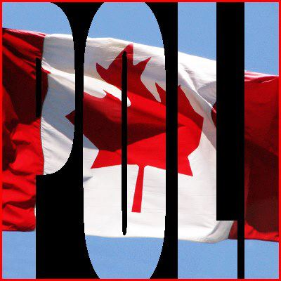 A Canadian flag is visible through the hollowed our letters POLI to signify Canadian Politics